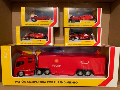 Colección autos ferrari gasolineras shell