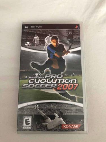 Juego pro evolution soccer 2007 para psp
