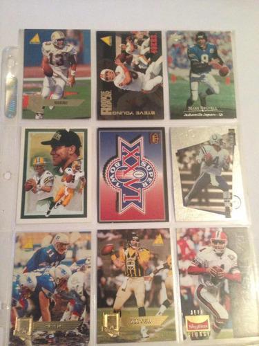 Lote tarjetas de colección nfl