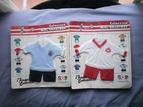 Mini uniformes originales del mundial de futbol mexico 86