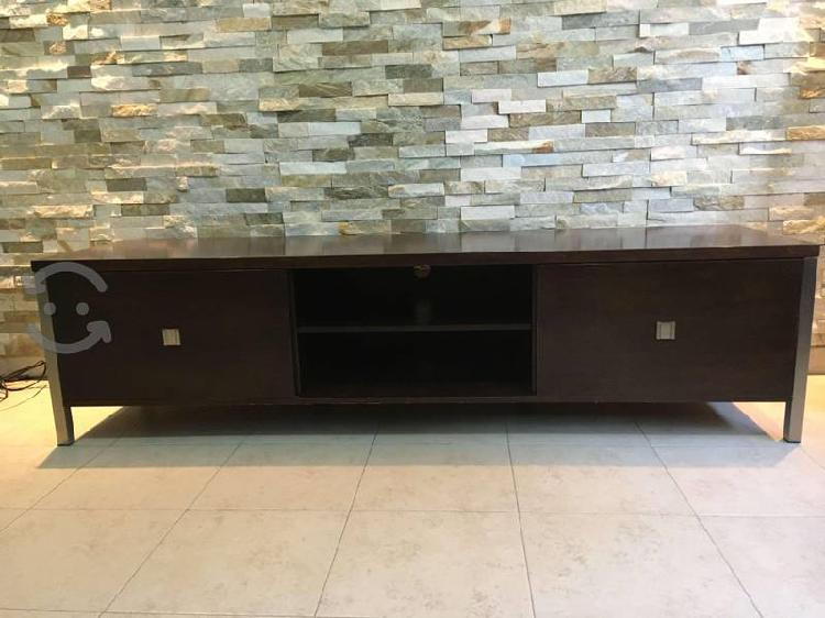 Remato mueble de centro para tv color chocolate