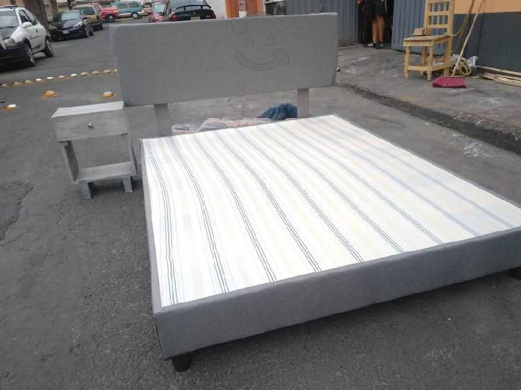 Base de cama cabecera más buro