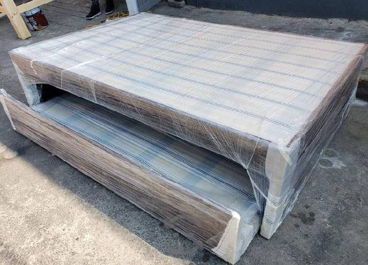 Cama canguro tapizada individual mixta y doble mat