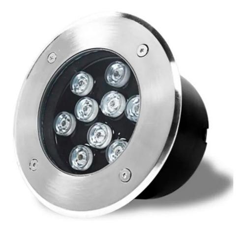 15 pz lampara led para piso 9w empotrable exteriores emp9p