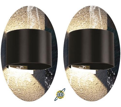 2 lámparas led 6w pared muro arbotante baño exterior