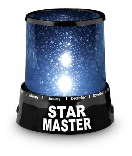 Lampara usb luz noche infantil proyector estrellas 2en1 3d