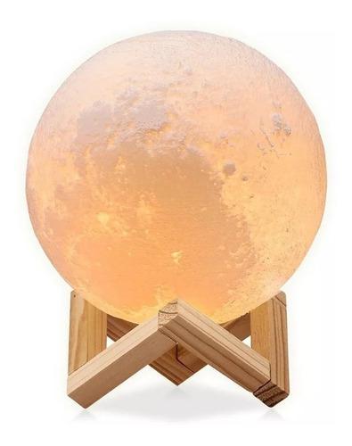 Lámpara de luna 3d 16 cambio de color táctil recargable