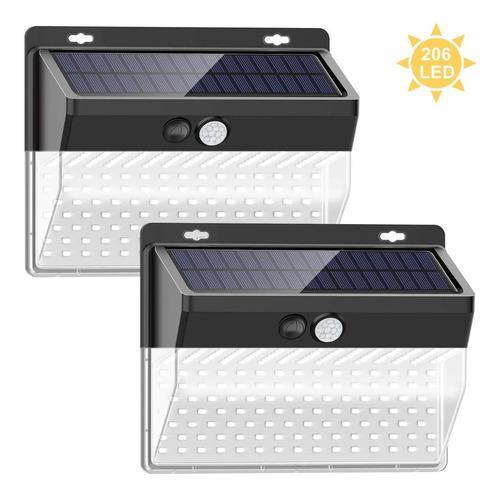 Lámparas solares exterior 2pcs luces solares jardín 206