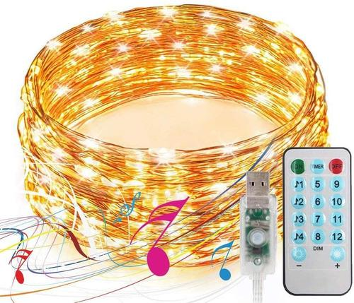 Luces led decorativas, con control por usb 10m 100leds