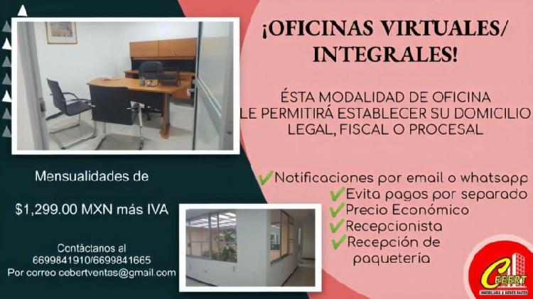 Oficinas integrales/virtuales cebert para que establezca su