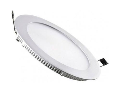 Panel de led slim empotrable luz fría circular plafon 6500k