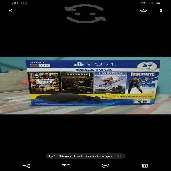 Playstation 4 nuevo 1 tb 4 juegos