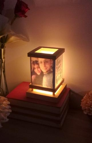 Regalo para novio/novia de aniversario lampara personalizada