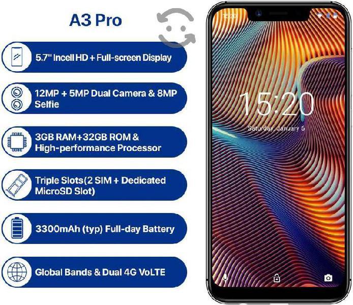 Teléfono celular 4g umidigi a3 pro 3gb 32gb nuevo