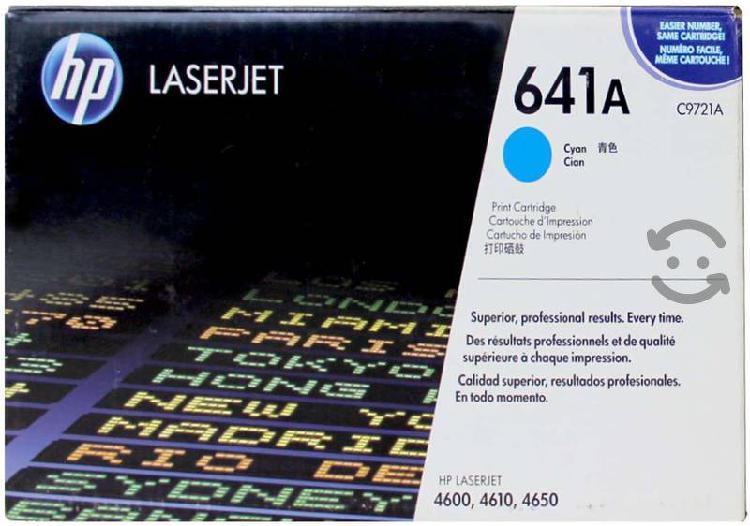 Toner cyan lj color 4600 caja maltratada