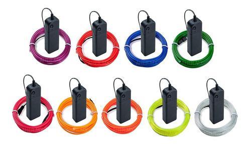 Wire hilo 3m traje luminoso luz tira neon dj cable led