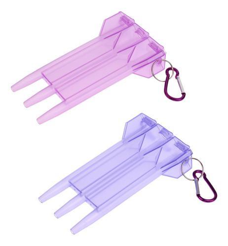 2 piezas de caja de almanecamiento de dardos con clip