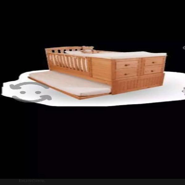 Cama cuna tete (madera chilena)