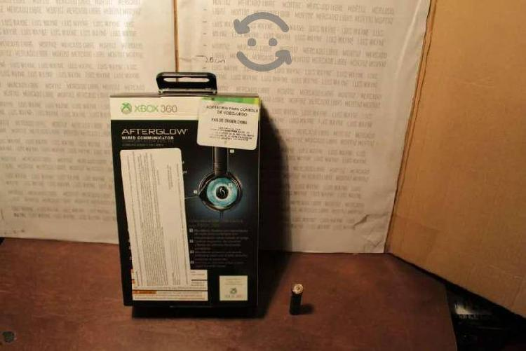 Diadema pdp chat afterglow xbox 360 micrófono azul
