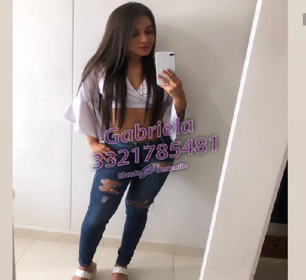 Gabriela jovencita de 23 años recién cumplidos