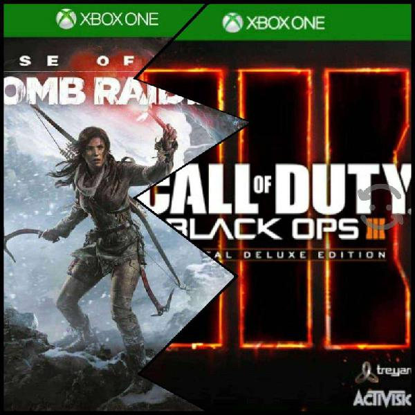 Principal black ops 3 deluxe + tom raider xbox one