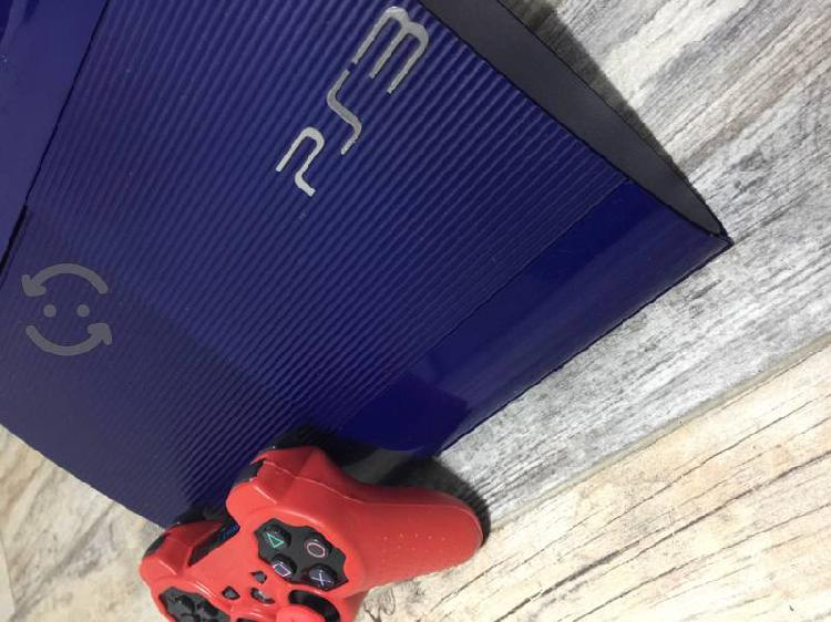 Ps3 súper slim edición especial blue gt + juegos