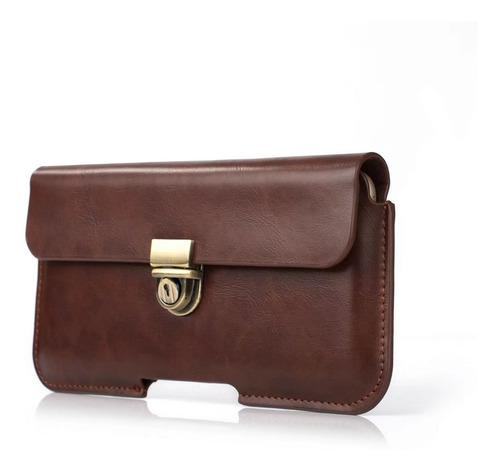 Pu leather horizontal funda belt clip holster pouch for sams