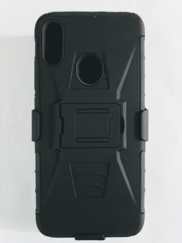 Redmi note 7 funda protectora de uso rudo con clip + envio