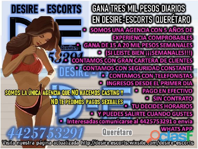 SOLICITAMOS CHICAS GUAPAS 4425753291 D E