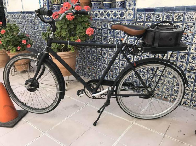Bicicleta eléctrica + velocidades mecánicas