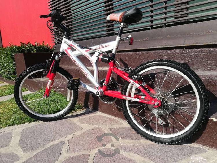 Bicicleta de montaña doble suspension benotto r20