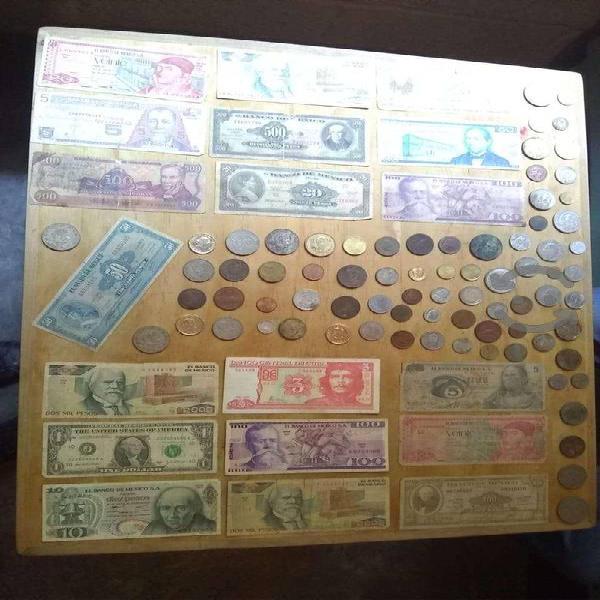 Billetes y monedas varias
