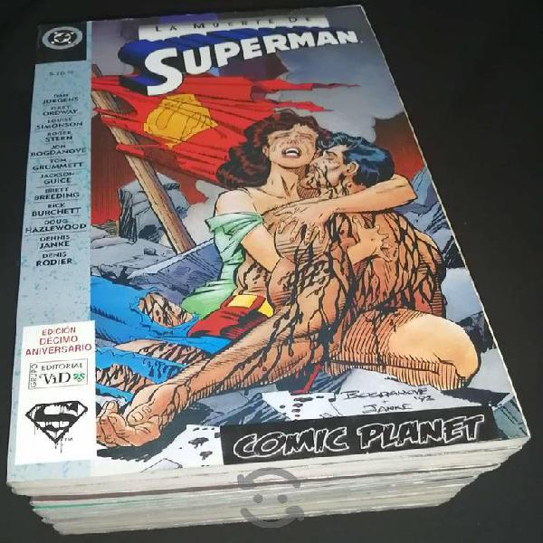 Comics muerte de superman colección completa vid