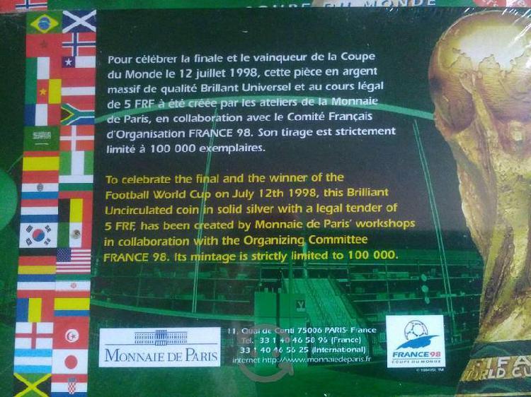 Moneda conmemorativa final francia '98