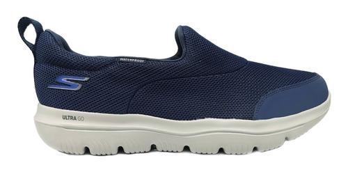 Skechers gowalk ultra slip on azul casual caminar waterproof