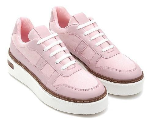 Sneakers casuales de mujer c&a de punta redonda