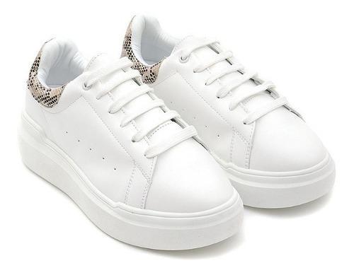 Sneakers casuales de mujer c&a de punta redonda básicos