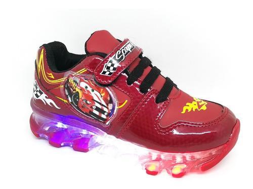 Tenis con luces led para niño marca scape cars mcqueen