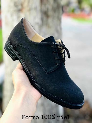 Zapatos mujer agujeta negro