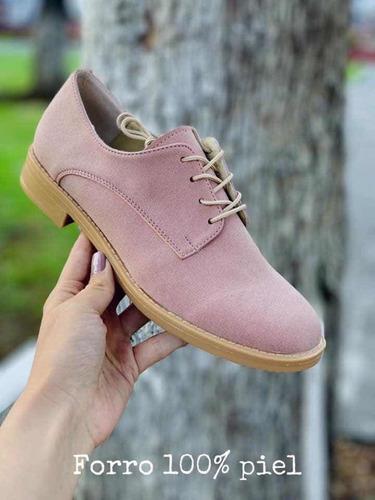 Zapatos mujer agujeta rosa
