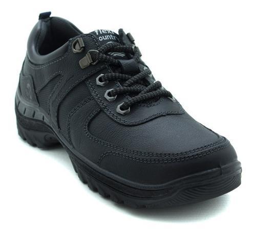 Zapatos para caballero outdoor flexi 66513 negro