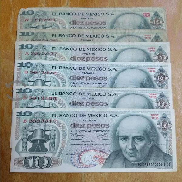 Billetes antiguos de colección