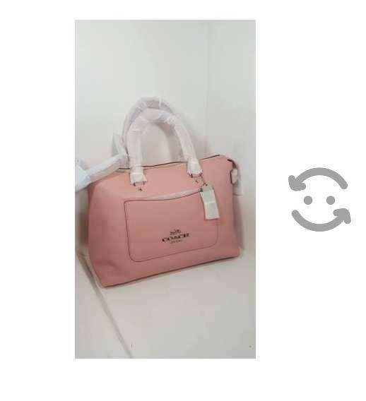 Bolsa coach emma satchel color rosa petalo
