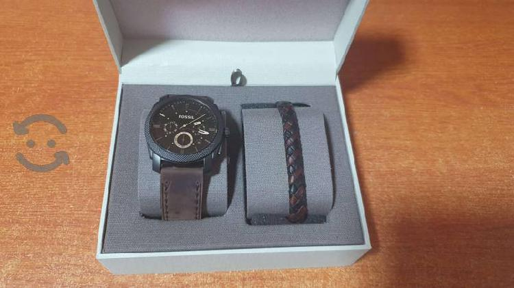 Box set reloj y pulsera fossil