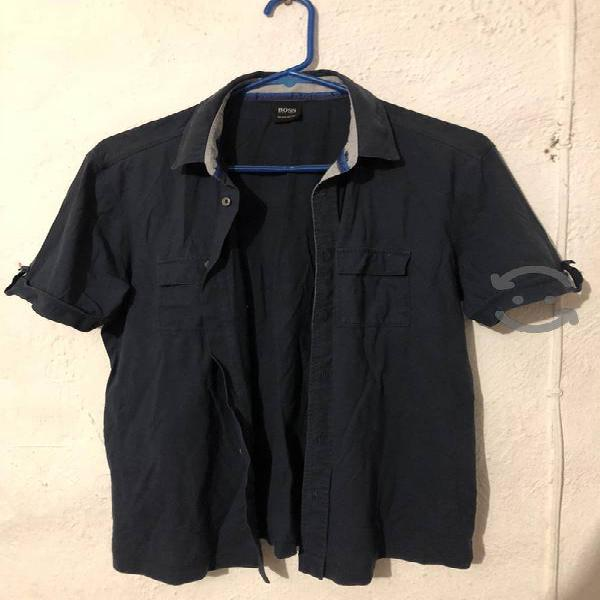 Camisa hugo boss original talla s azul marino
