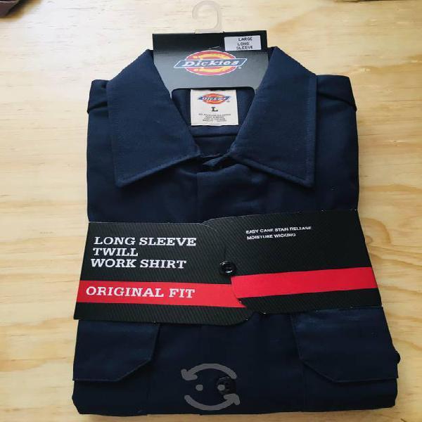 Camisa manga larga de trabajo dickies 574 (l y xl)