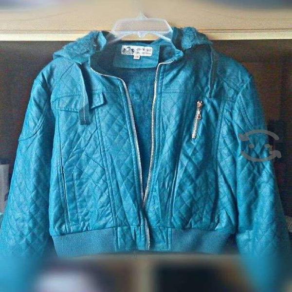 Chamarra azul usada talla mediana mujer chaqueta