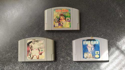 Lote n64 8 juegos diddy kong, star wars racer, hybrid heaven
