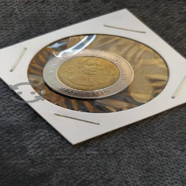 Moneda $5 pesos primo de verdad sin puntos