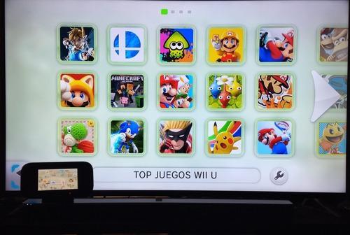Nintendo wii u 450 juegos + 5000 clasicos wii/gamecube/n64/